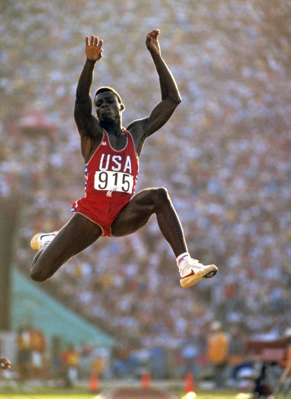 Lewis Long Carl Lewis Long Jump Gold