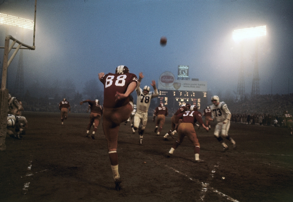 Washington Redskins PuntingOut of End Zone vs Baltimore Colts