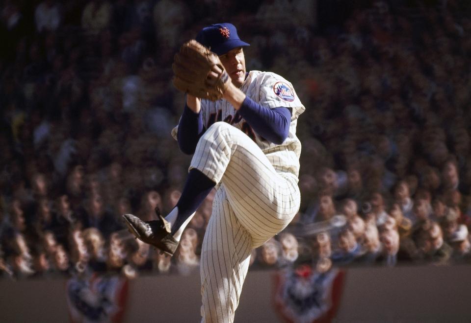 Tom Seaver Pitching, 1969 World Series
