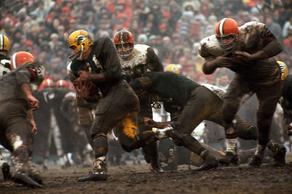 Jimmy Taylor (Running), Packers vs Browns