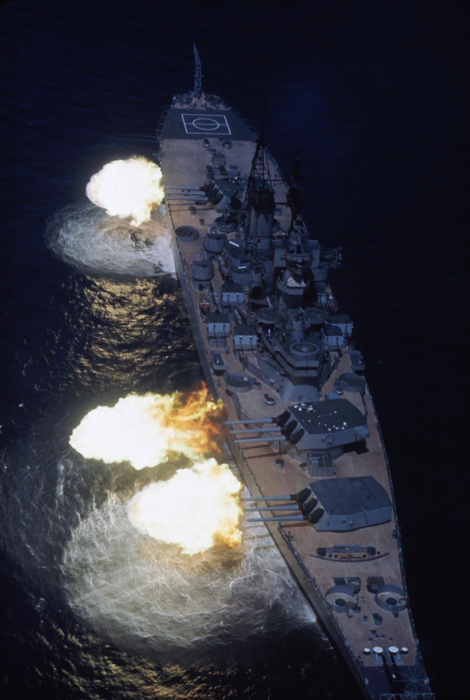 Battleship New Jersey, Gun Salvo