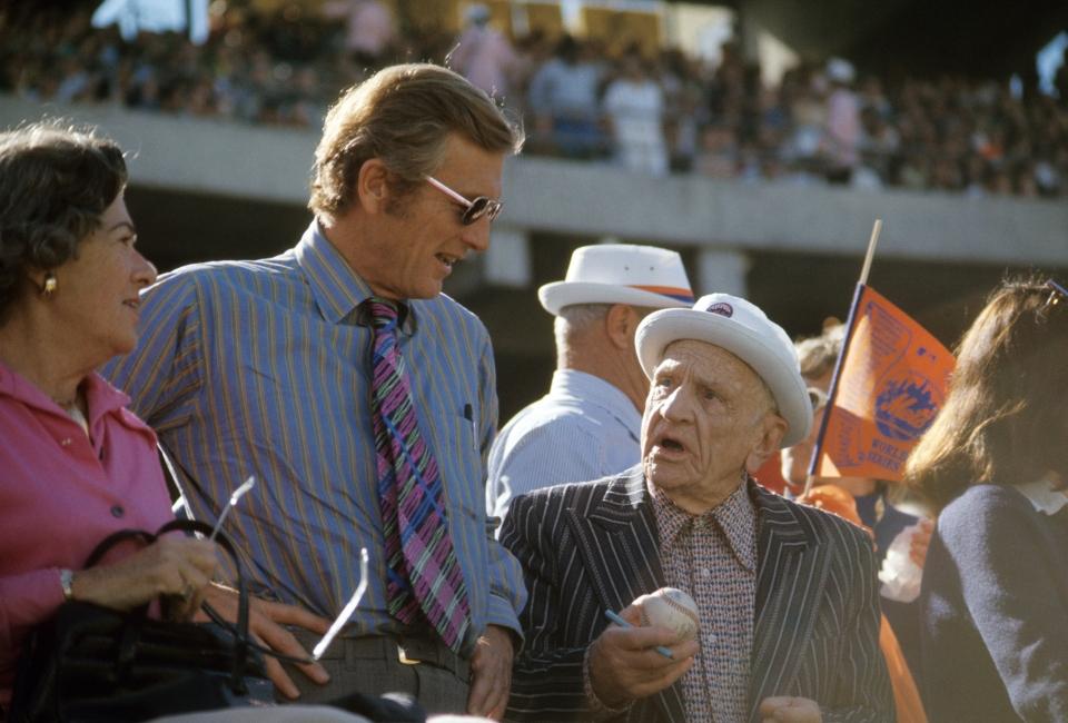 John Lindsey and Casey Stengelat World Series