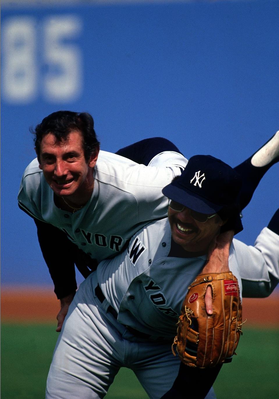 Reggie Jackson and Billy Martin at World Series