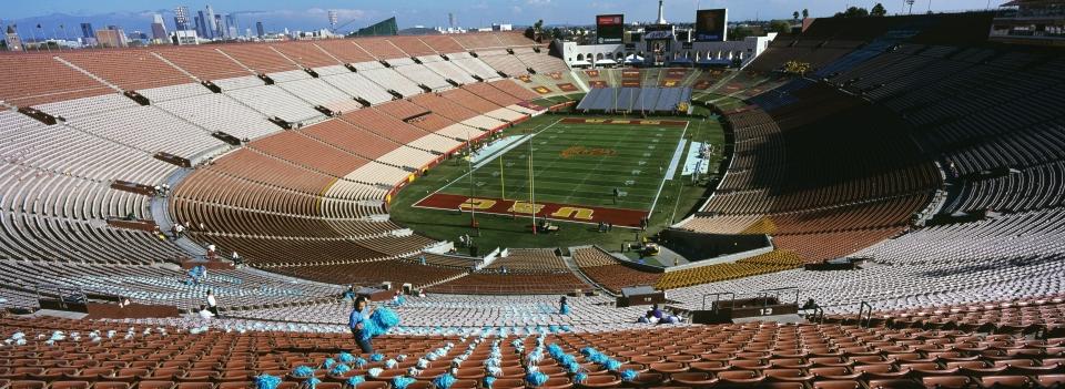 USC vs UCLA - Los Angeles Coliseum (Empty Stadium)