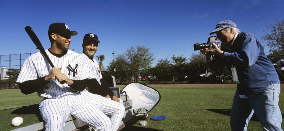 Spring Training - Ozzie Sweet Photographing Derek Jeter and Joe Torre