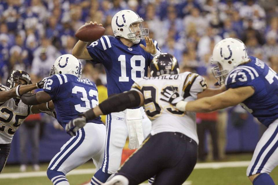 Peyton Manning, Colts vs Chargers