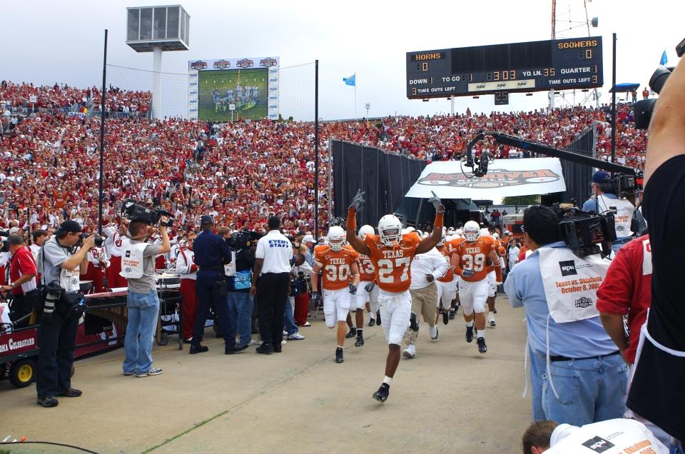 Texas Longhorns Leaving the Tunnel