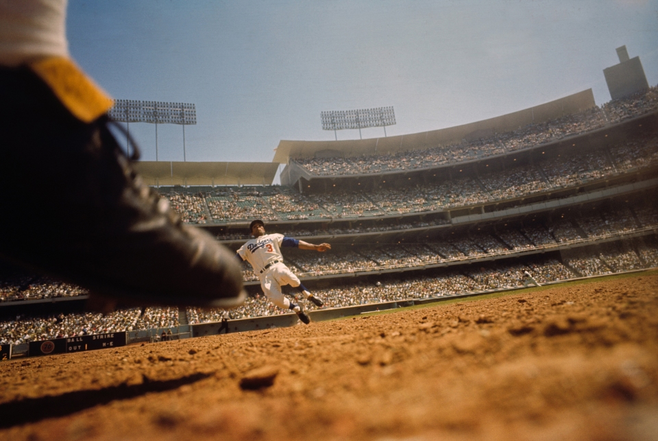 Willie Davis, Shot from Remote Camera, 2nd Base