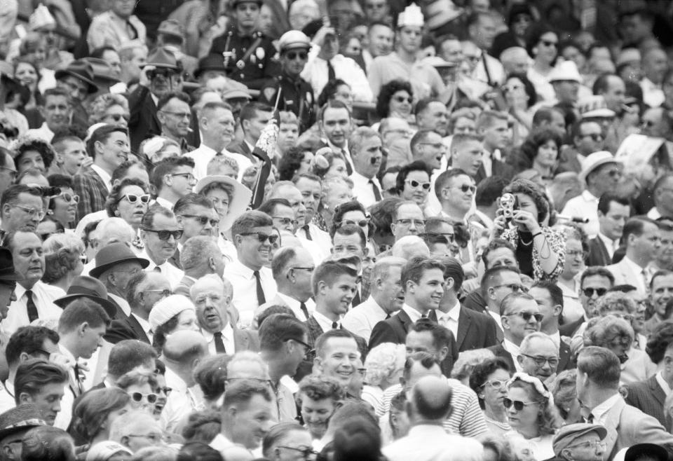 JFK at the Orange Bowl