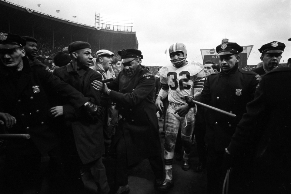 Jim Brown Walking Off Field