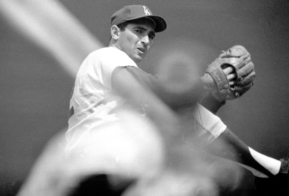 Sandy Koufax Pitching