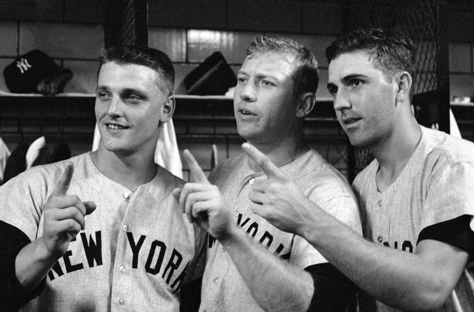 Roger Maris, Mickey Mantle, and Clete Boyer