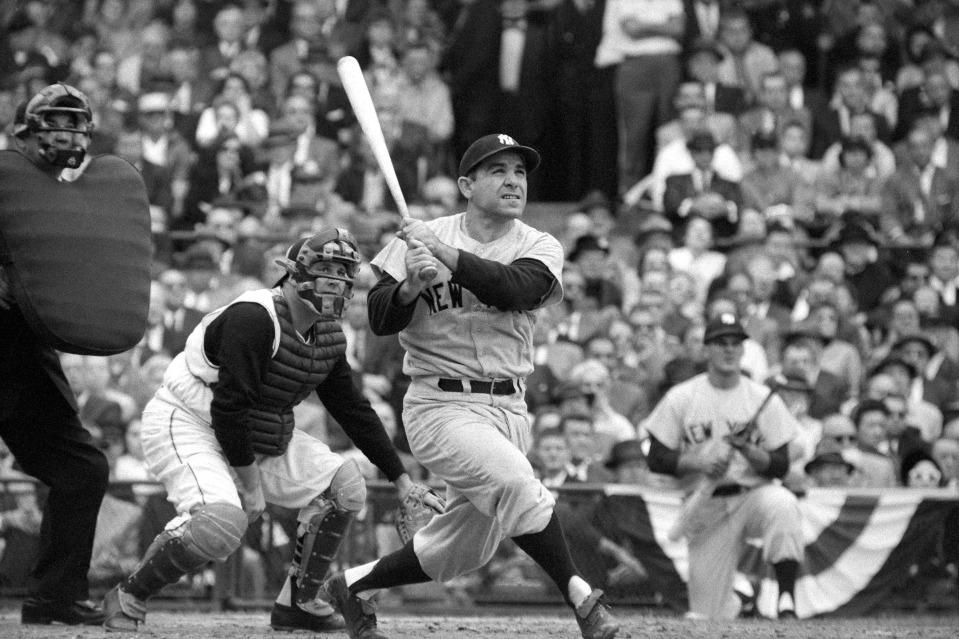 Yogi Berra Swinging, 1960 World Series
