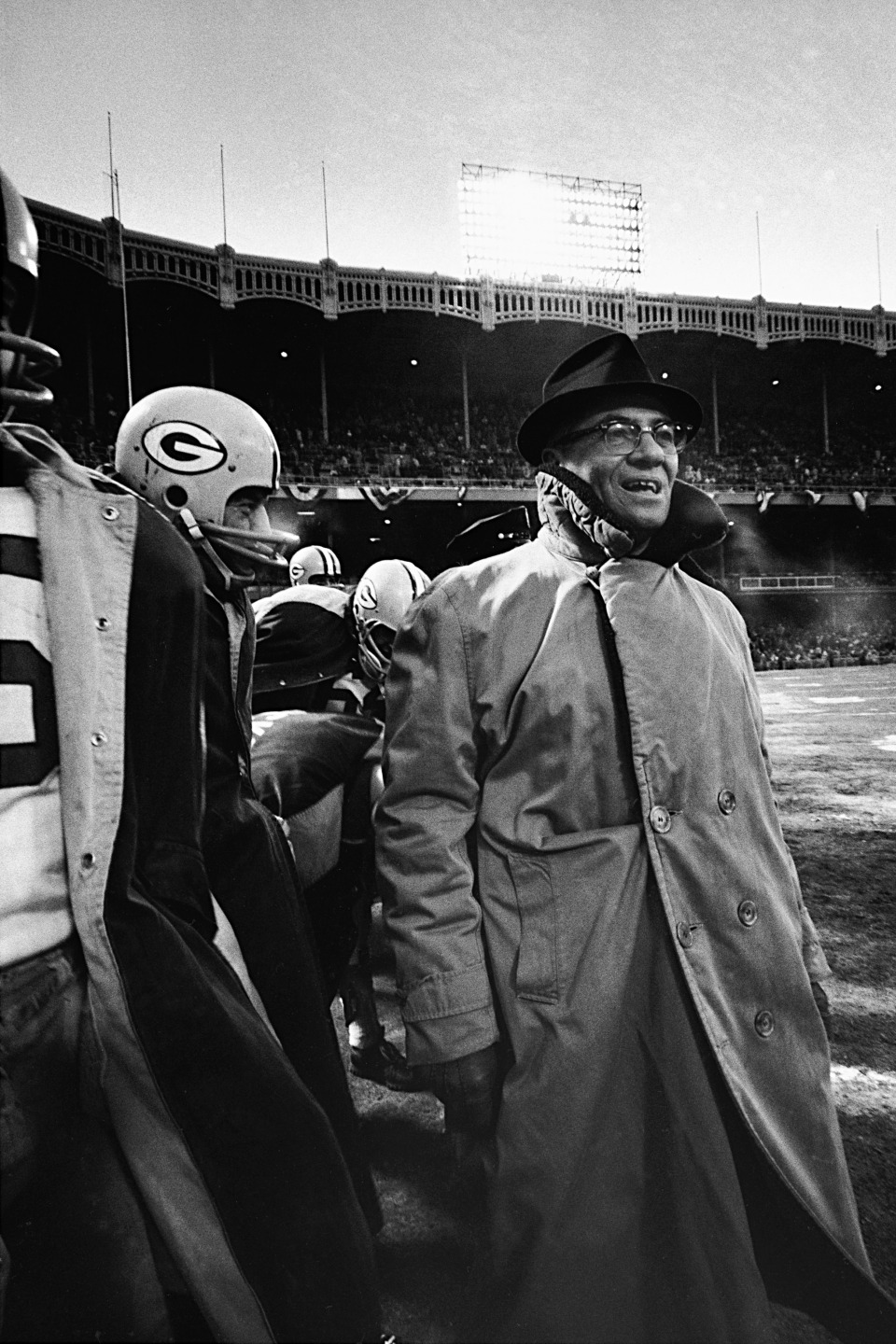 Vince Lombardi Standing on the Sideline