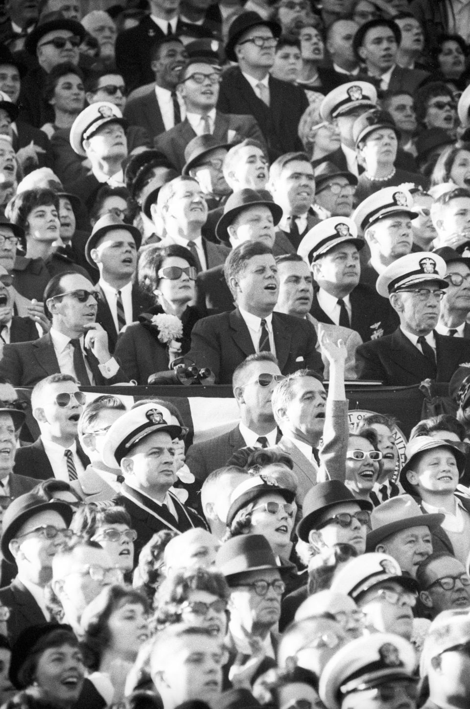 President John F. Kennedy at Army - Navy Game