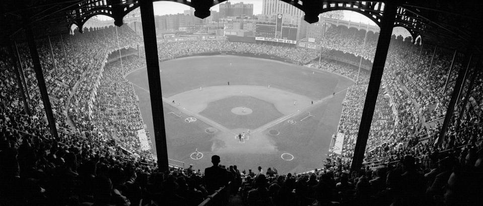 Yankee Stadium Shot from Upper Deck Behind Home Plate