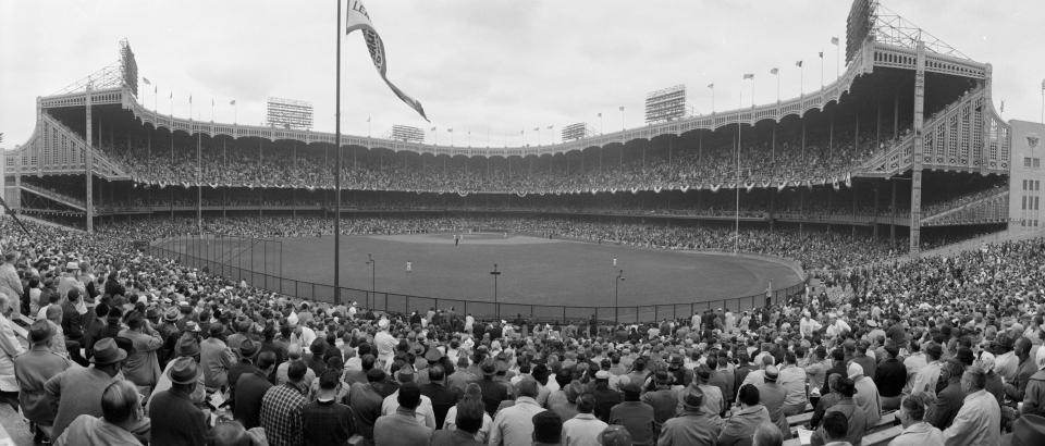 Yankee stadium shot from center field