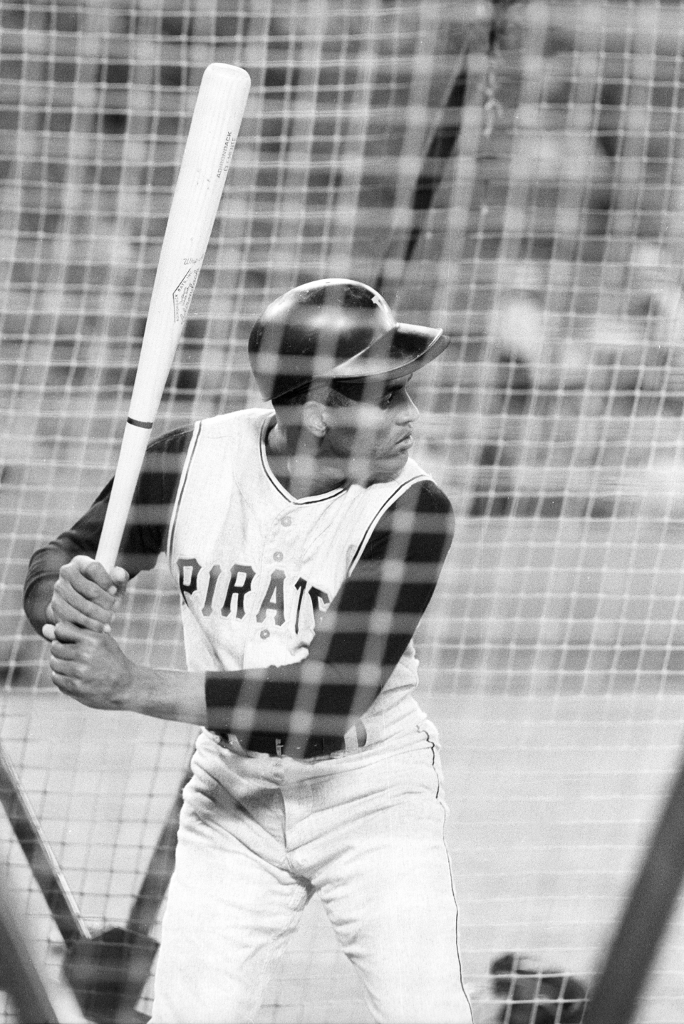 Roberto Clemente in Batting Cage