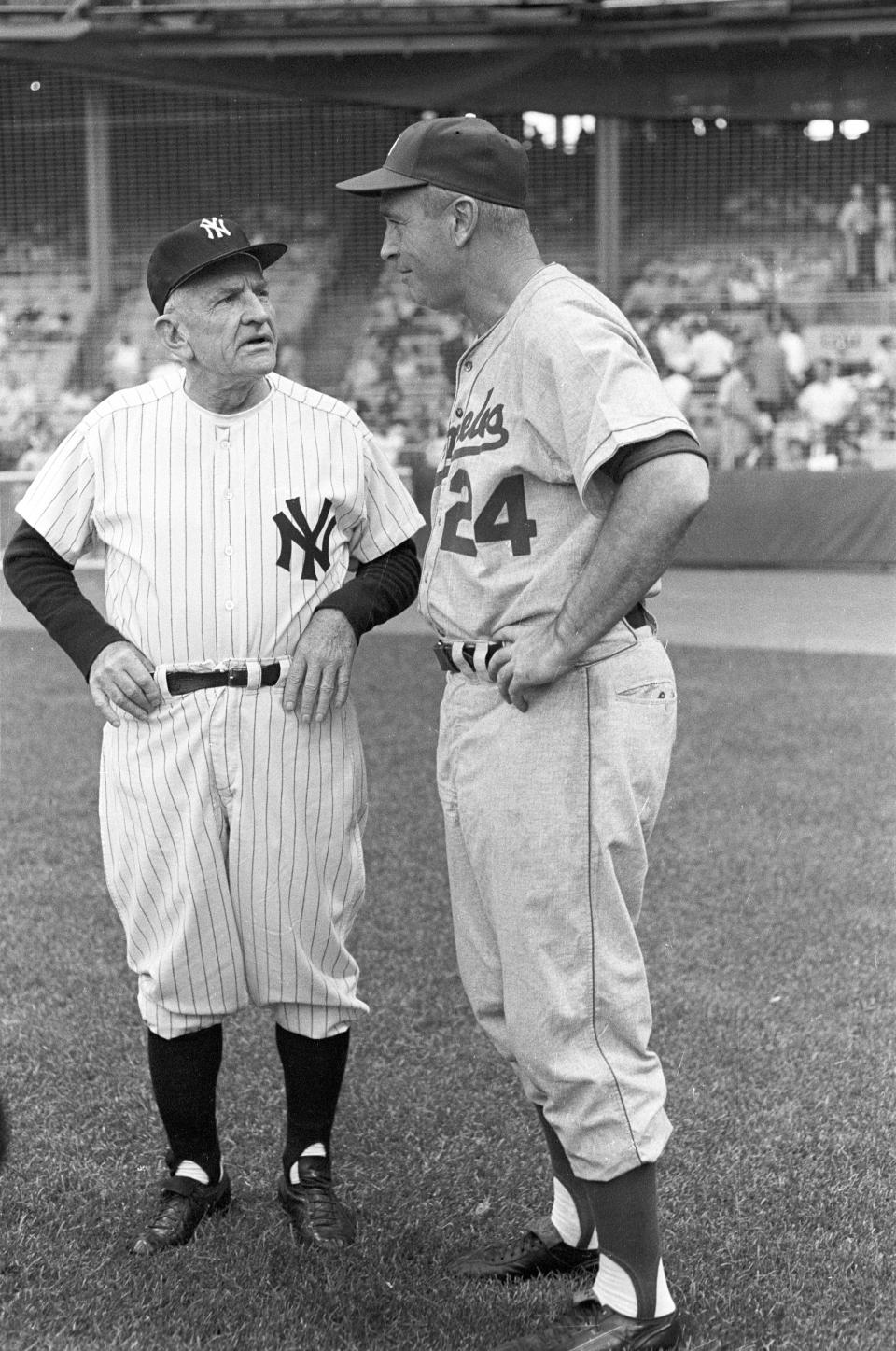 Casey Stengel and Walt Alston