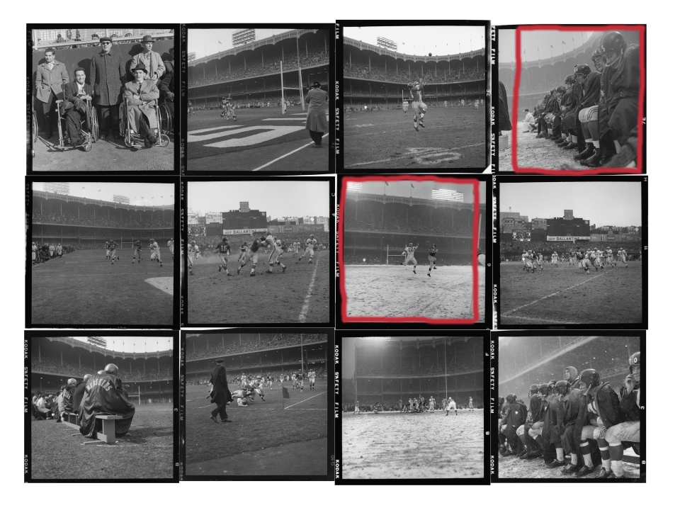 NY Giants 1958 Football Season - Contact Sheet