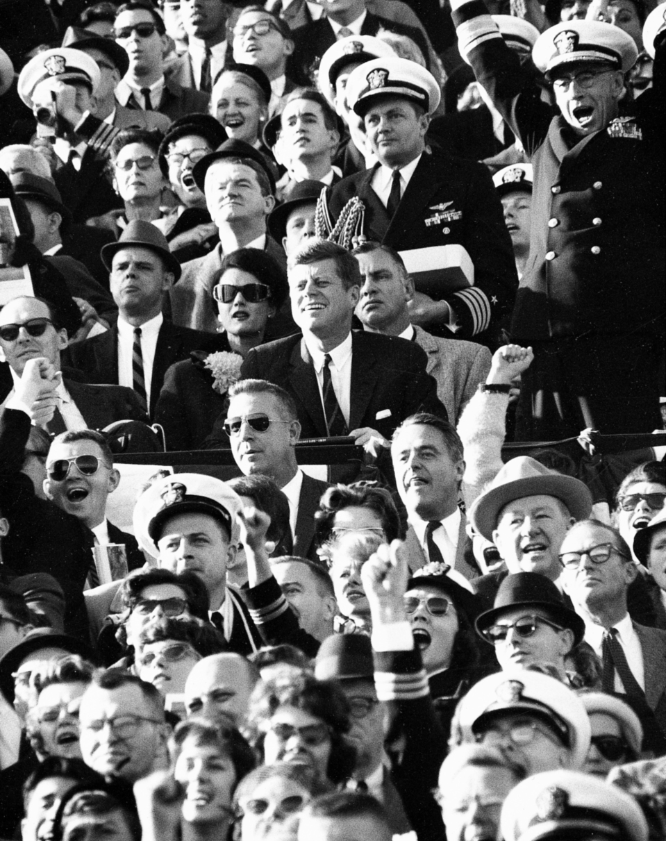 President JFK in Crowd at Army - Navy Game