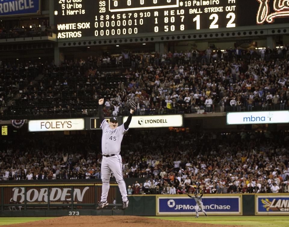 Bobby Jenks Celebrates Sweep of the Astros