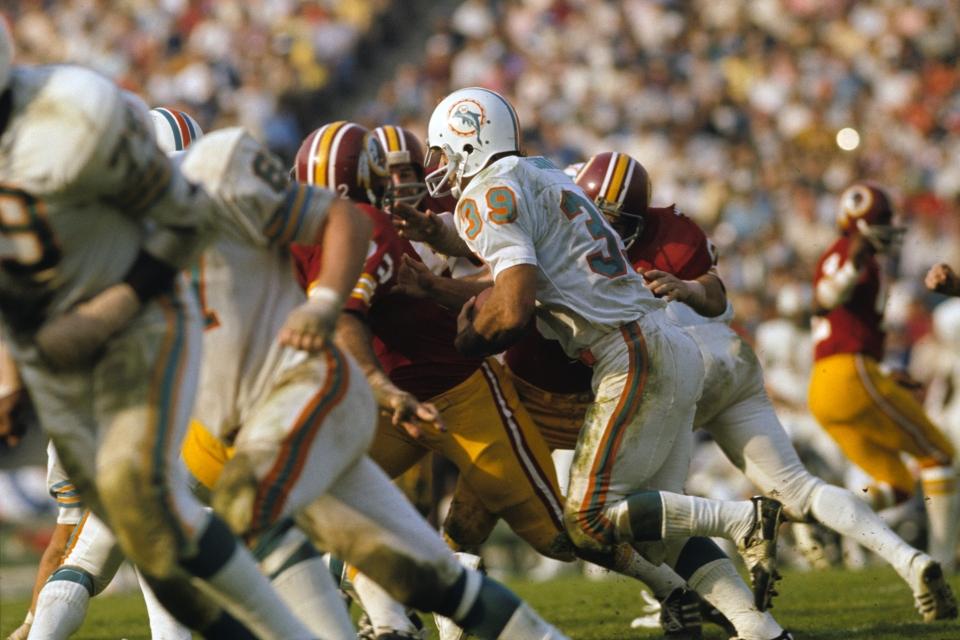 Miami Dolphins Larry Csonka vs Redskins, Super Bowl VII